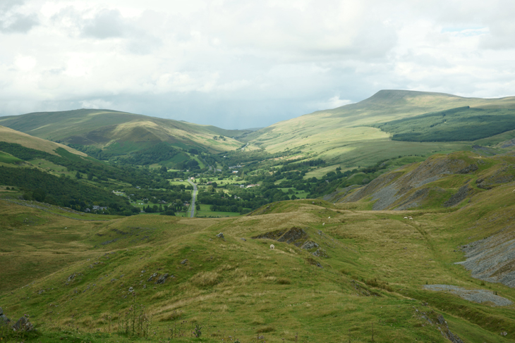 View from Cribarth: Glacial Valley by Craig-Y-Nos, by Ian Glendenning