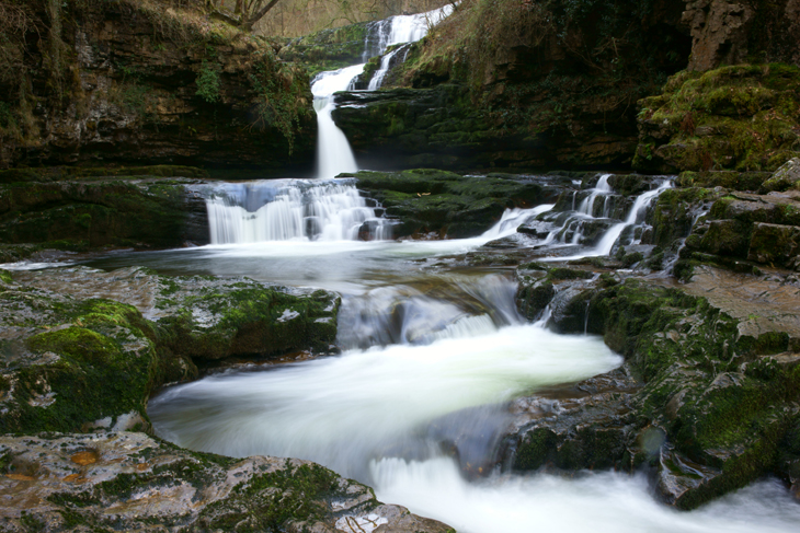 Sgwd Isaf Clun-Gwyn: Upper, Middle and Lower Falls