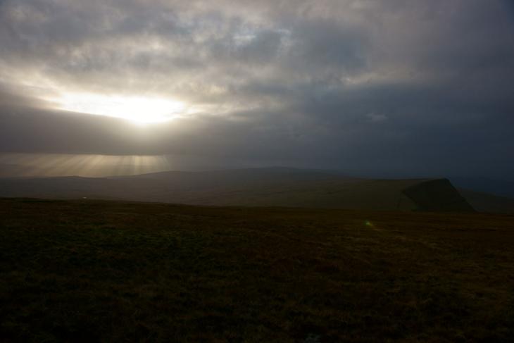 Shafted Sunlight Over Fan Foel, by Ian Glendenning