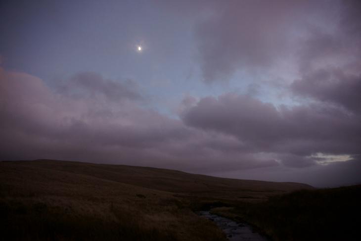 Half Moon Over Nant Y Llyn, by Ian Glendenning
