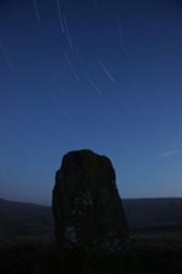 Star Trails Over Waen Lleuci