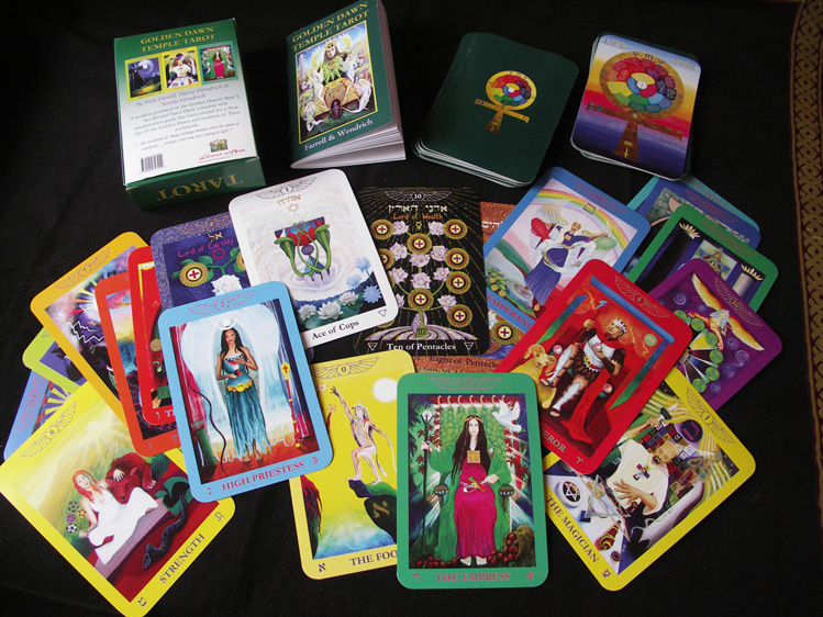 Golden Dawn Temple Tarot featuring new back cover design.