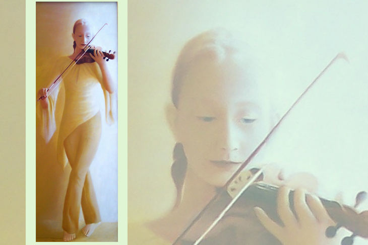 'Farrah: Violin Player' by Roy Guy