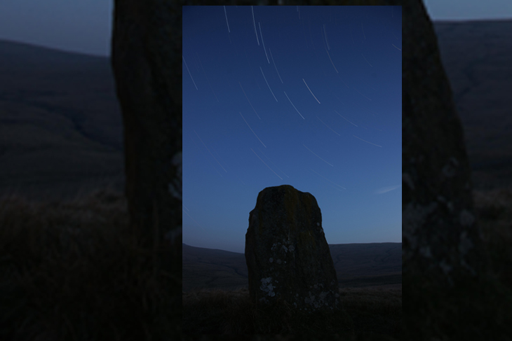 Star Trails over Waen Lleuci, by Ian Glendenning