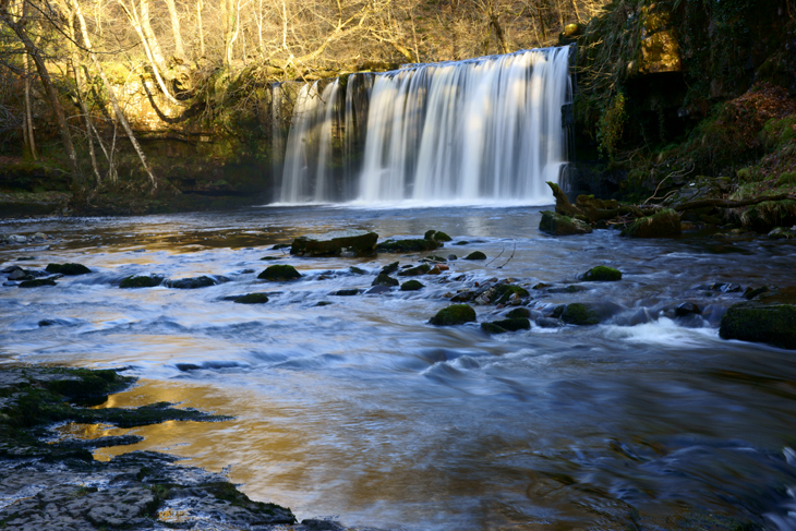 Sgwd Ddwli Uchaf (the Upper Gushing Waterfalls)