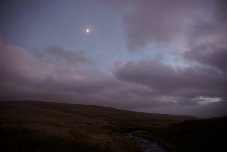 Half Moon Over Nant Y Llyn, by Ian Glendenning