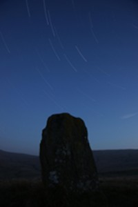 Star Trails Over Waen Lleuci